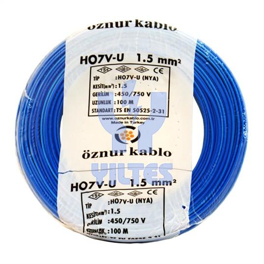 ÖZNUR 1,5 NYA Kablo - Mavi 100 Metre