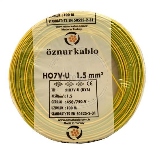 ÖZNUR 1,5 NYA Kablo - S/Y 100 Metre