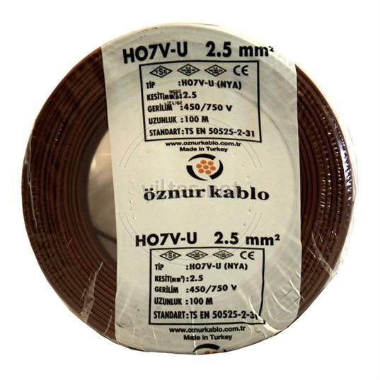 ÖZNUR 2,5 NYA Kablo - Kahverengi 100 Metre