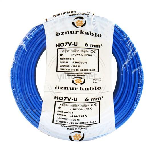 ÖZNUR 6 NYA Kablo - Mavi 100 Metre