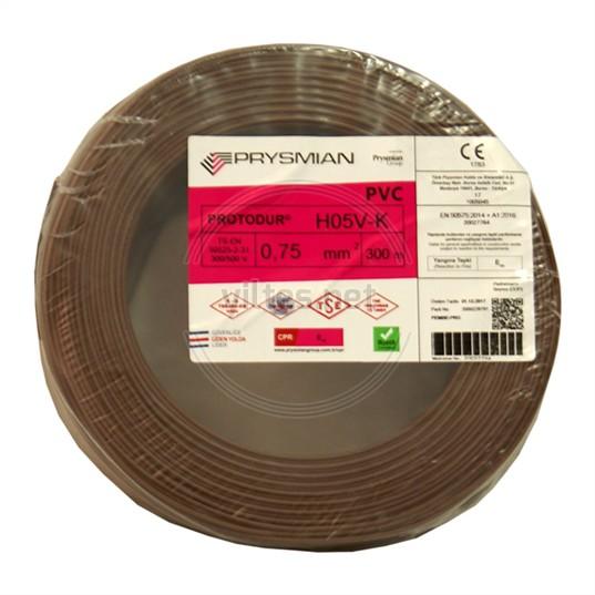 PRYSMIAN 0,75 NYAF Kablo - Kahverengi 300 Metre
