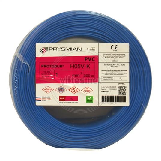 PRYSMIAN 1 NYAF Kablo - Mavi 300 Metre