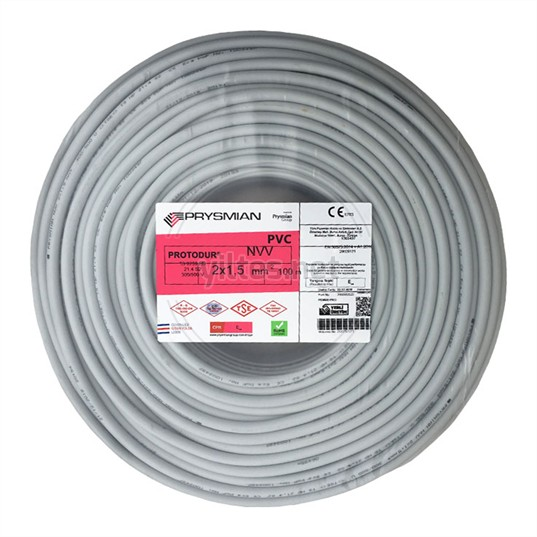 PRYSMIAN 2x1,5 NYM (Antigron) Kablo - 100 Metre