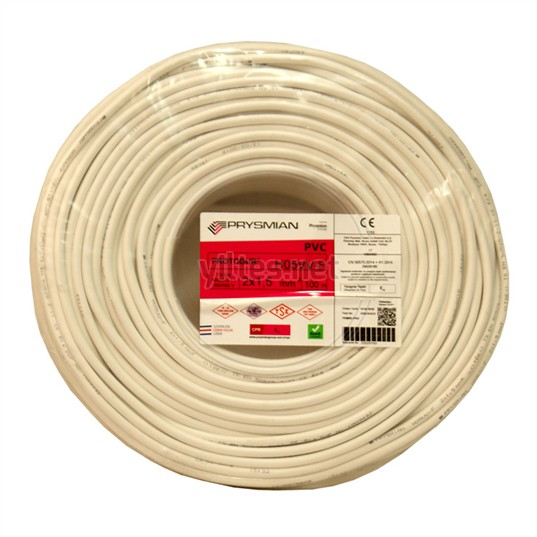 PRYSMIAN 2x1,5 TTR Kablo - Beyaz 100 Metre