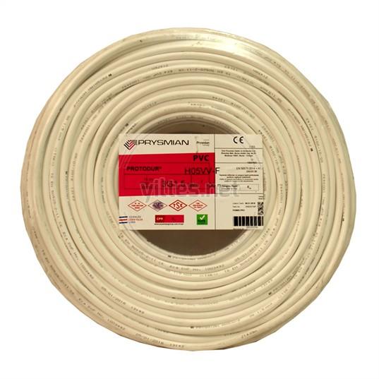 PRYSMIAN 3x1,5 TTR Kablo - Beyaz 100 Metre
