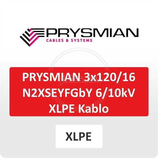 PRYSMIAN 3x120/16 N2XSEYFGbY  6/10kV XLPE Kablo
