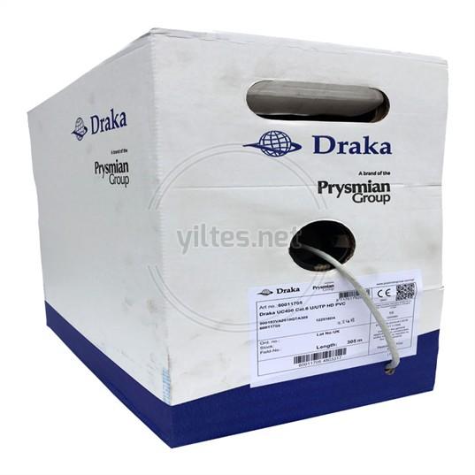 DRAKA Cat6 Kablo UC400 C6 U/UTP HD PVC GY - 305 Metre
